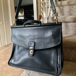 Used Vintage COACH Leather Briefcase (Laptop Case)